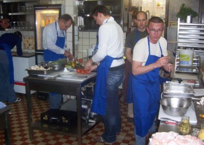 """Team cooking"" in a professional kitchen with learnt skills transferable to everyday working life"
